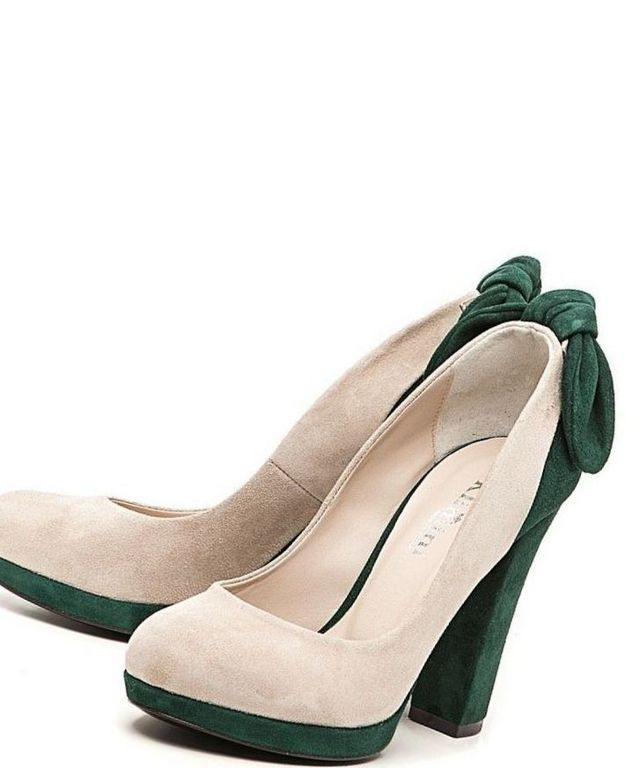 white green platform wedding shoes