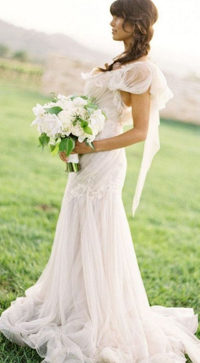 white summer wedding dresses image