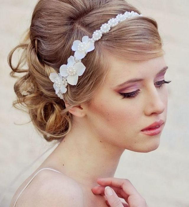 white wedding headbands
