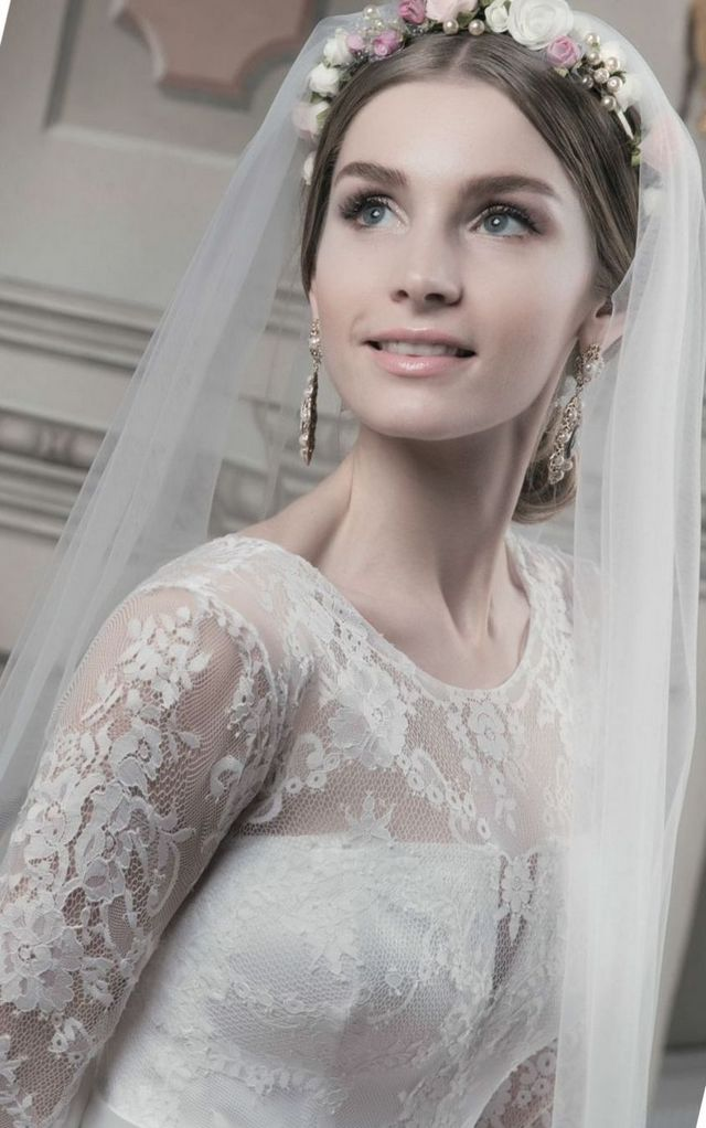white wedding headpieces