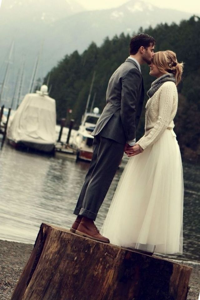 winter beach wedding dresses