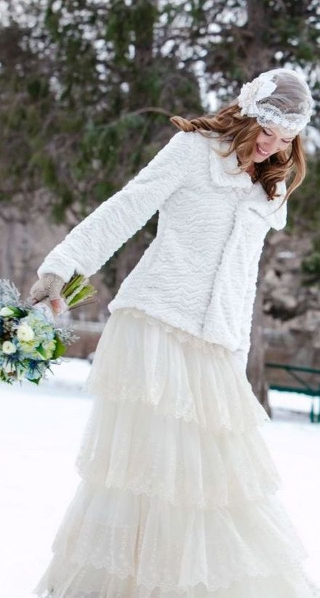 winter plus size wedding dresses