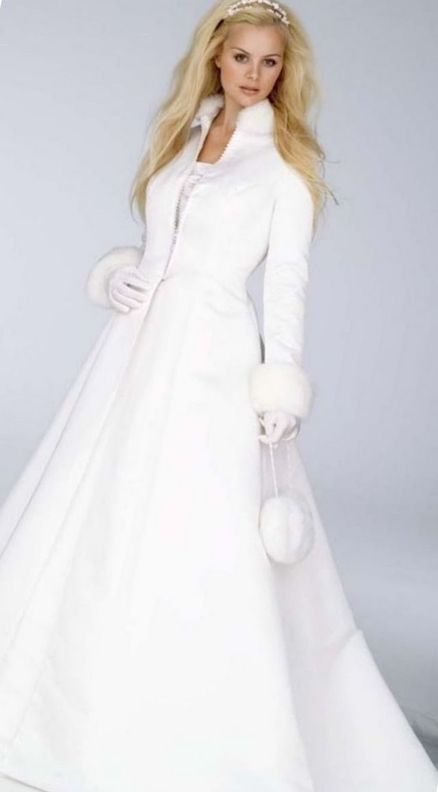 winter short wedding dress