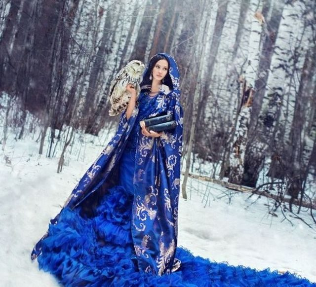 blue winter wedding dresses 2017