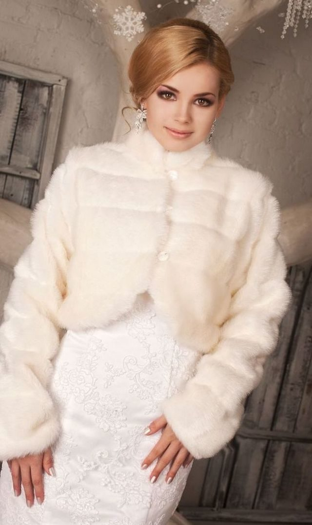 winter wedding dresses with fur