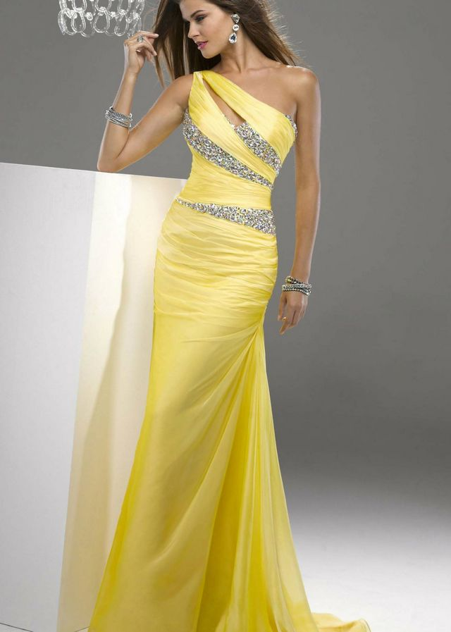 yellow bridal dress image