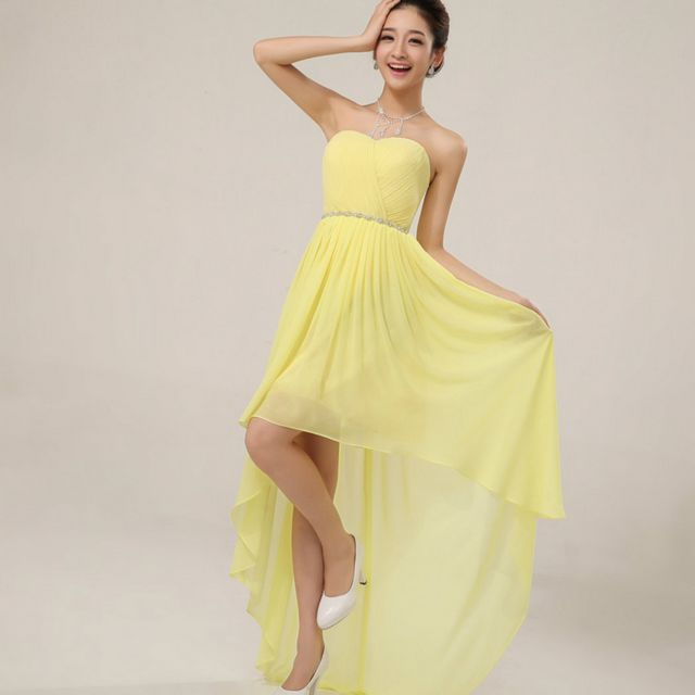 yellow bridal dresses picture