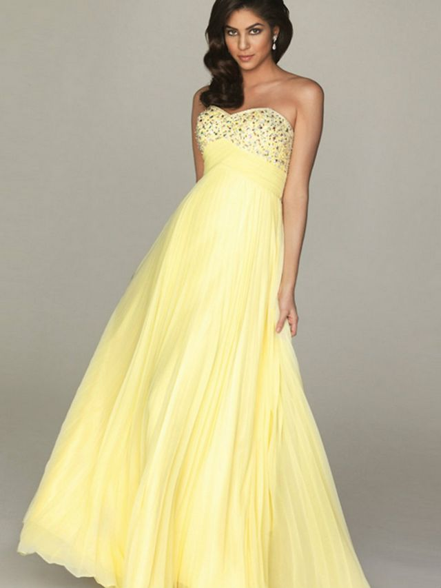 yellow bridal dresses