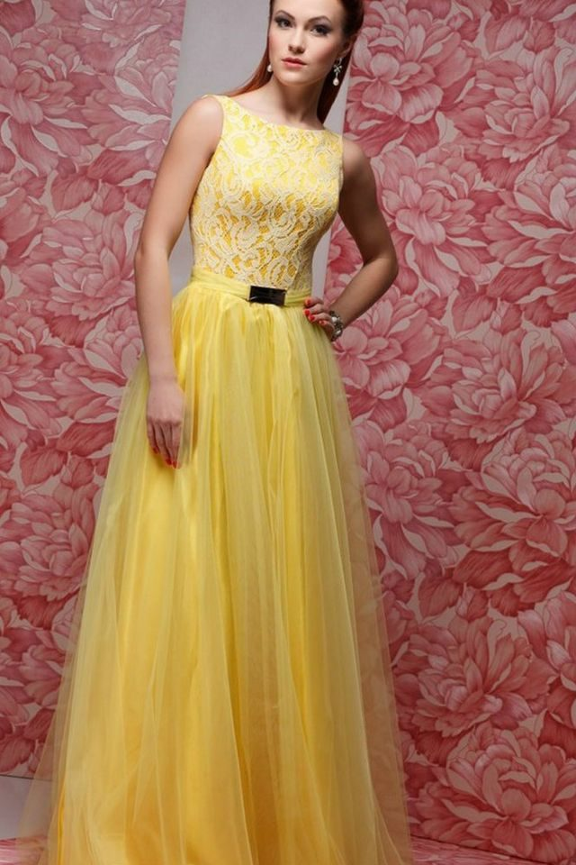 yellow bridesmaid dress chiffon
