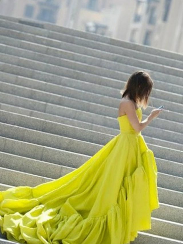 yellow dresses for bride