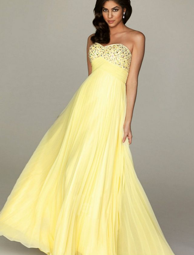 yellow wedding dress designs