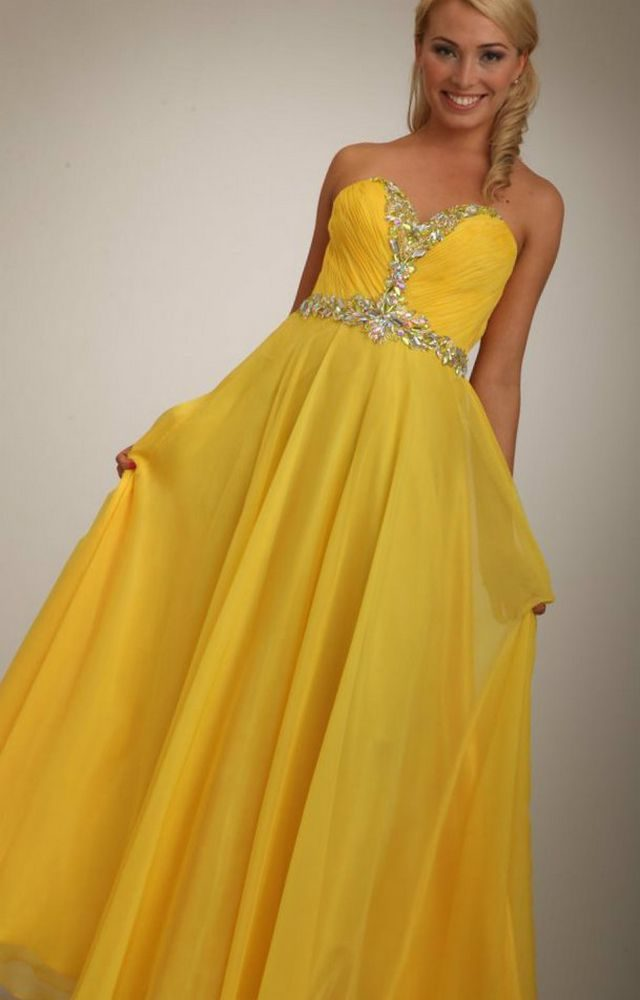 yellow wedding dress for pregnant