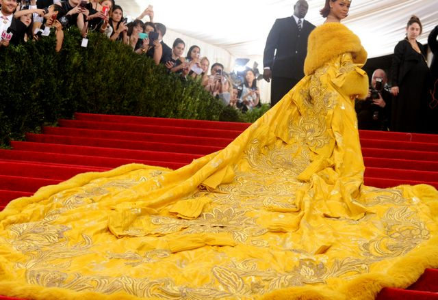 yellow wedding dress with long train