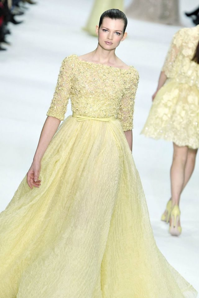 yellow wedding dress with sleeves