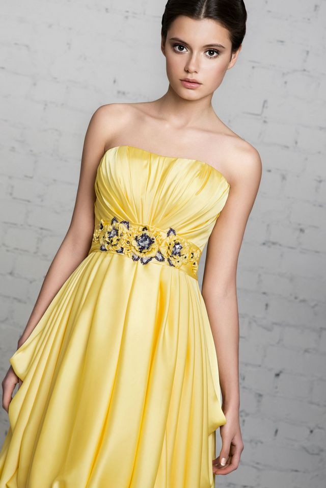 yellow wedding dresses 2016
